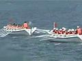 多国海军舢板比赛中国队夺得第一
