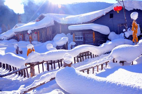 东北雪乡风景图片