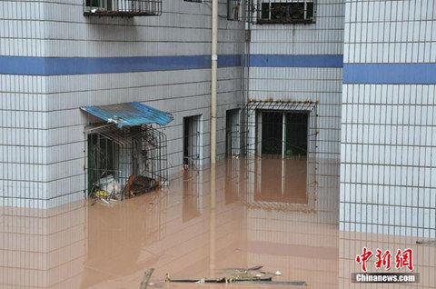 昨天,重庆丰都县发生洪水。(来源:中新网)