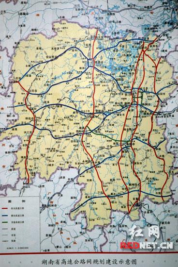 湖南高速公路网规划_强悍的湖南高速公路规划图pk湖北