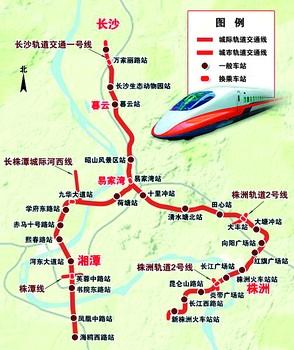 湘潭到长沙地图