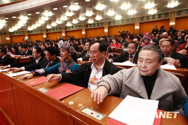 十一届全国人大三次会议闭幕 表决通过修改选