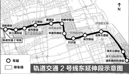"""轨交2号线""""牵手""""上海两大机场"""