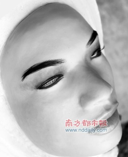 美女面具a 人皮面具 高仿真人皮面具 易容人皮面具
