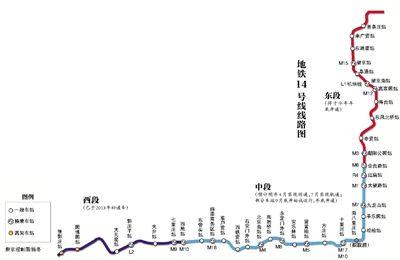 14号线 14号线地铁线路图 北京地铁14号线图片