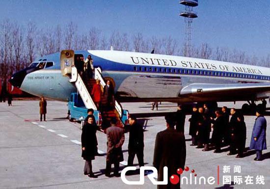 """""""中美关系回顾""""图片报道:尼克松访华"""