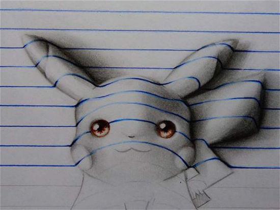 男孩名叫卡瓦略,擅长创作3d素描立体画.图片