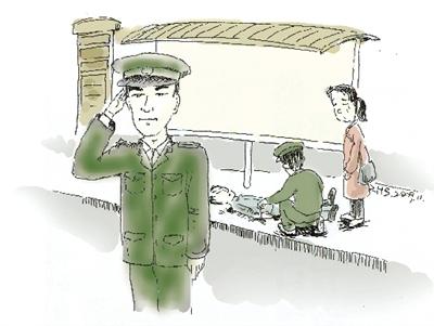 军官街头救助癫痫男孩留钱不留名