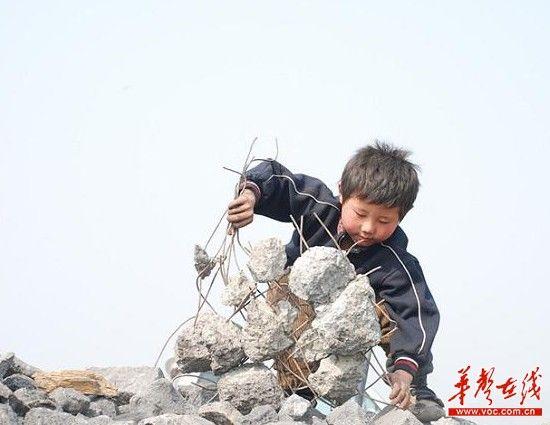 6歲男童砸鐵絲養家感動網友