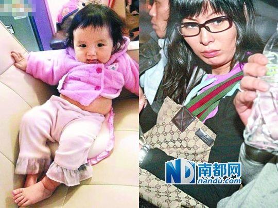 女婴俞凯晴(左),其母吴天恩(右)。