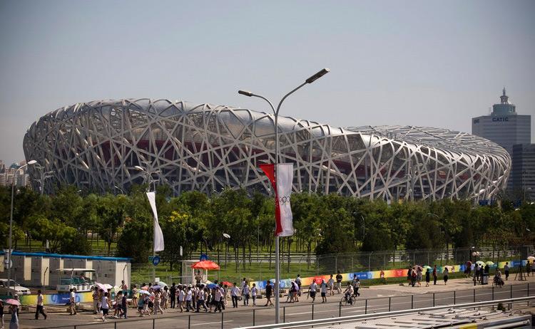 图文:北京奥运主体育场鸟巢