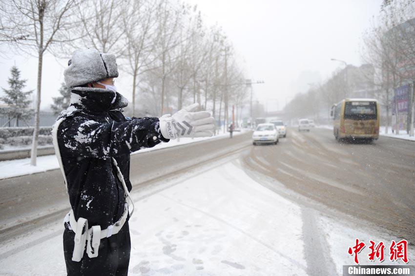 长春遭遇大雪袭击
