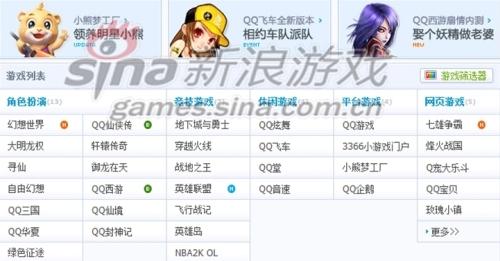 目前腾讯旗下运营游戏列表