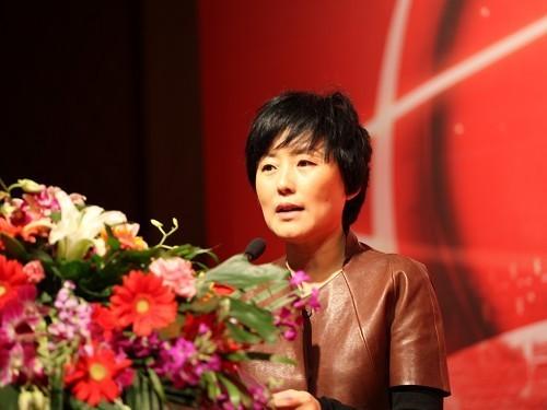 巨人总裁刘伟发表演讲