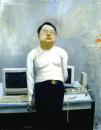 刘小东作品赏析:《电脑领袖》