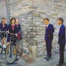 刘小东作品赏析:《自古英雄出少年》
