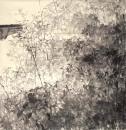入选第二届全国中国画展《误听风声是雨声》190 x200cm 2005年