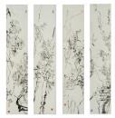 梅、兰、竹、菊136x28x4cm  2009年