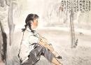 夏日黄昏的白鹭洲(为正玉速写)1977