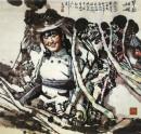 旱船姑娘 100cm×100cm 1988年