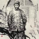 毛泽东在延安 100cm×100cm 2001年
