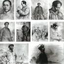 中国革命历史题材作品部分创作画稿1