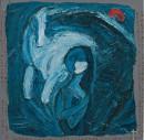 1985年 《潮・懵懂的海》 油画 120x120cm