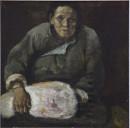 1983年 《国难习作二》油画 46x46cm