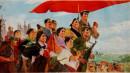 1974年 《社会主义到处都在胜利前行》水粉
