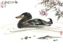 2012年萧平小品《春江水暖》46x34