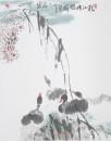 2005秋江游鸭图