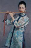 陈逸飞作品赏析:《吹笛女子》