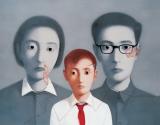张晓刚作品赏析:《血缘大家庭系列》