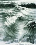日影,许钦松,中国画,184x147cm,2010年