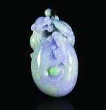 紫罗兰翡翠瑞龙把件 估价:40000-60000