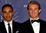 图文-国际汽联年终颁奖典礼 汉密尔顿与罗斯伯格