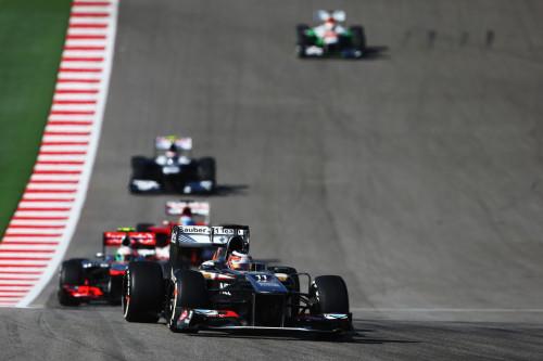 图文-F1美国站周日正赛 索伯车队霍肯伯格