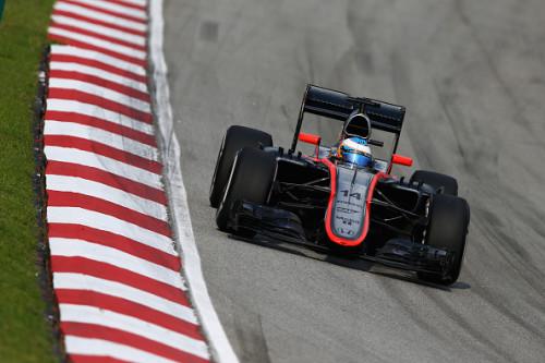图文-F1马来西亚站正式比赛 迈凯轮车队阿隆索