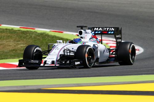 图文-F1西班牙站第3次练习 威廉姆斯车队马萨