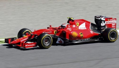 图文-F1意大利站正式比赛 法拉利车队莱科宁