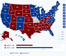美国大选各州票数分布