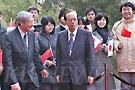 福田康夫来到北京大学