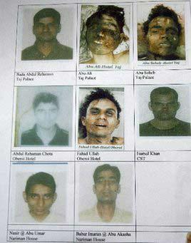 印度公布孟买恐怖袭击案疑犯照片和姓名(图)