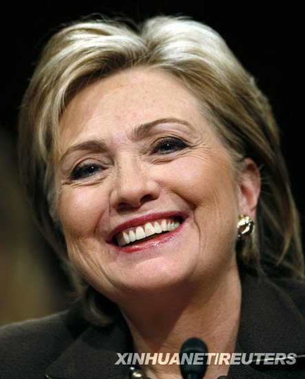 美国参院确认希拉里出任国务卿(组图)