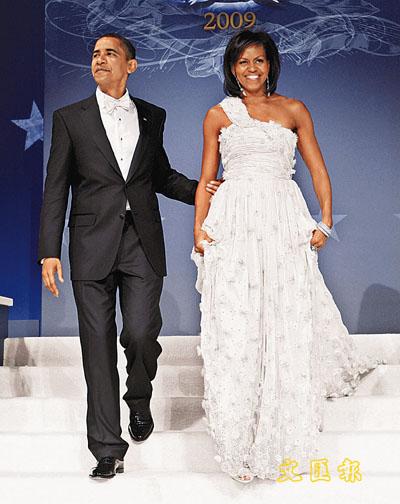 奥巴马夫人就职典礼晚装由华裔设计师操刀(图)