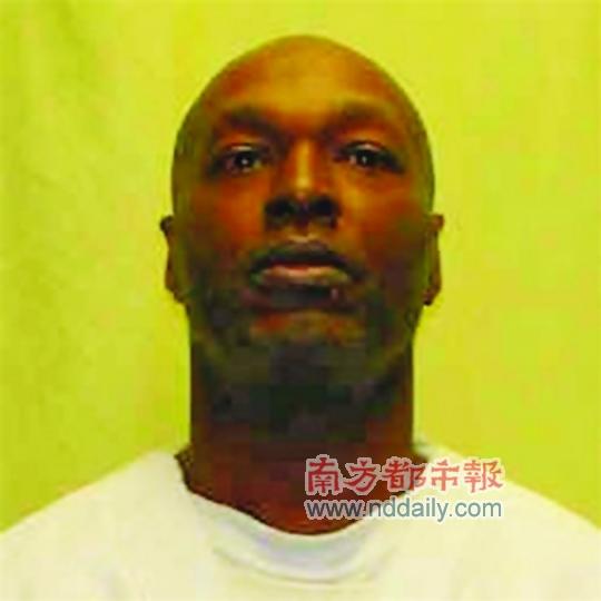 注射的静脉血管 美国俄亥俄州一名死刑犯15日在接受