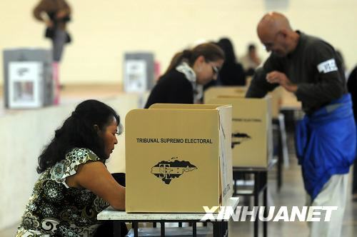 洪都拉斯总统选举投票结束(图)