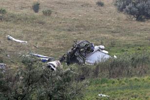 飞机残骸散落