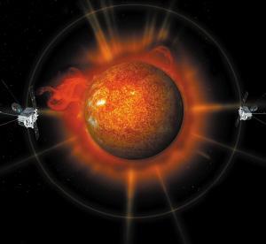 """""""太阳系漫游""""后的首次""""会师"""",拍到的一组连续的太阳三维(3d)立体图"""