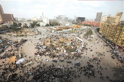 13日拍摄的埃及首都开罗解放广场。新华社/路透